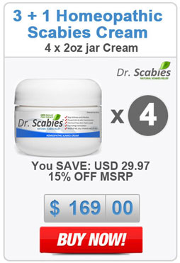 Dr. Scabies®: 4 x Homeopathic Scabies Cream