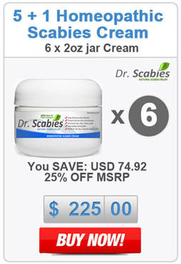 Dr. Scabies®: 6 x Homeopathic Scabies Cream