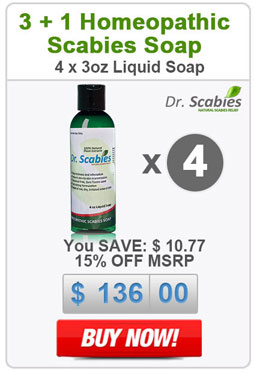 Dr. Scabies®: 4 x Homeopathic Scabies Soap