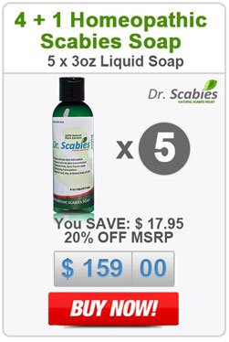 Dr. Scabies®: 5 x Homeopathic Scabies Soap